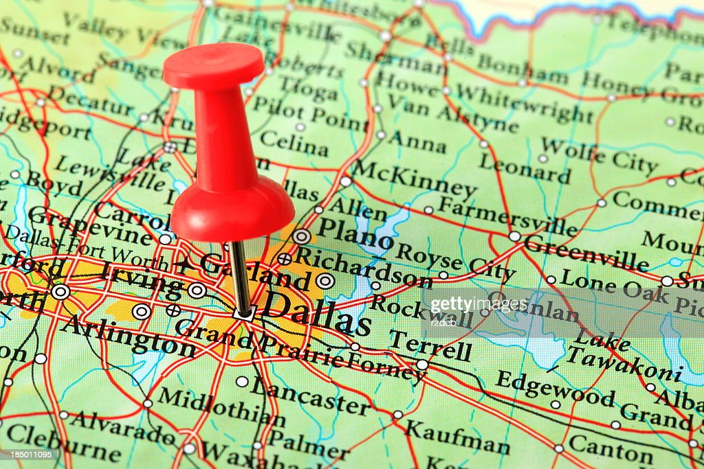 Dallas Map Texas Usa Stock Photo Getty Images - Texas usa map
