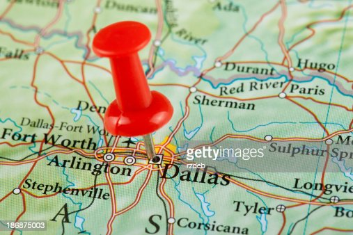 Dallas Map Texas Usa Stock Photo Getty Images - Maptexas
