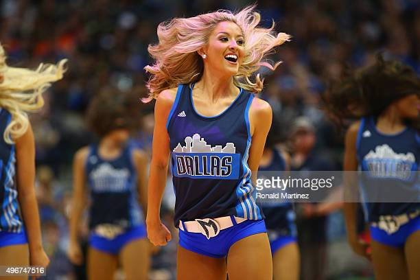 Dallas Mavericks dancer performs in the first half at American Airlines Center on November 11 2015 in Dallas Texas NOTE TO USER User expressly...