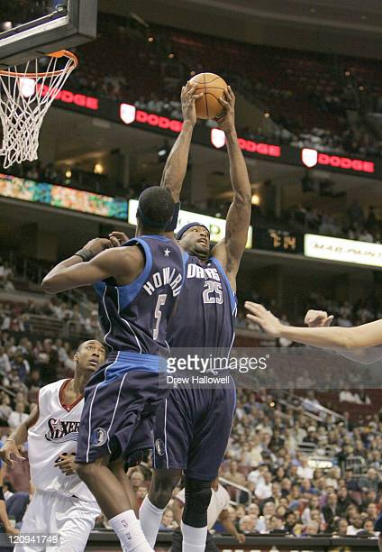 Dallas Mavericks Erick Dampier during a game against the Wednesday Nov 9 2005 in Philadelphia PA The Philadelphia 76ers defeated the Dallas Mavericks...