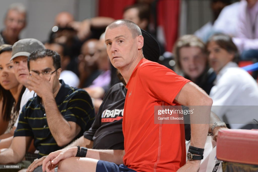 Dallas Mavericks head coach Rick Carlisle looks on against the Toronto Raptors during NBA Summer League on July 16, 2012 at the Thomas and Mack Center in Las Vegas, Nevada.