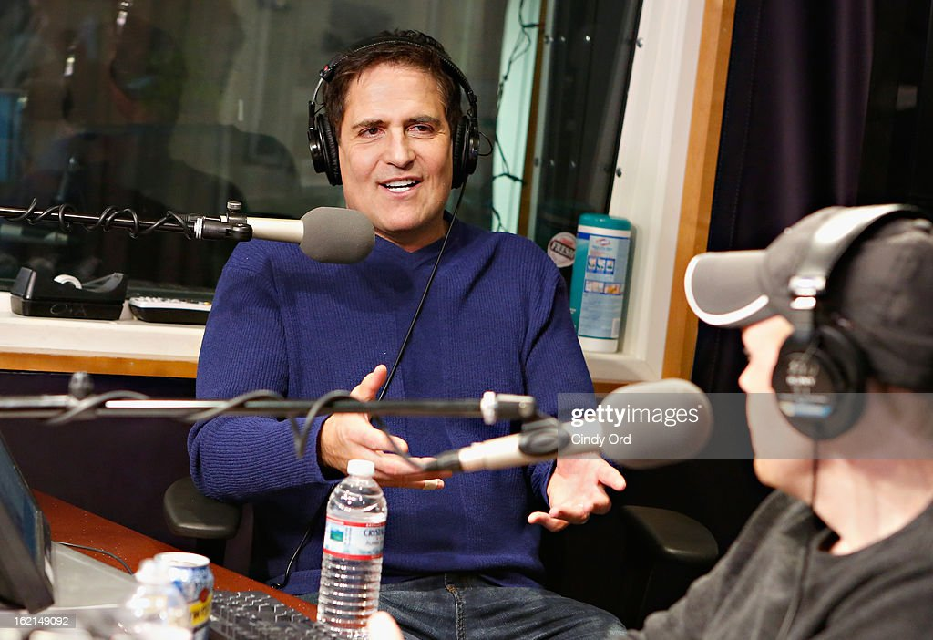 Dallas Mavericks owner/ TV personality <a gi-track='captionPersonalityLinkClicked' href=/galleries/search?phrase=Mark+Cuban&family=editorial&specificpeople=203295 ng-click='$event.stopPropagation()'>Mark Cuban</a> visits 'The Opie & Anthony Show' at the SiriusXM Studios on February 19, 2013 in New York City.