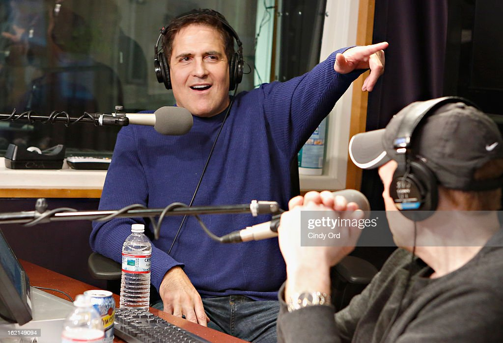 Dallas Mavericks owner/ TV personality Mark Cuban visits 'The Opie & Anthony Show' at the SiriusXM Studios on February 19, 2013 in New York City.
