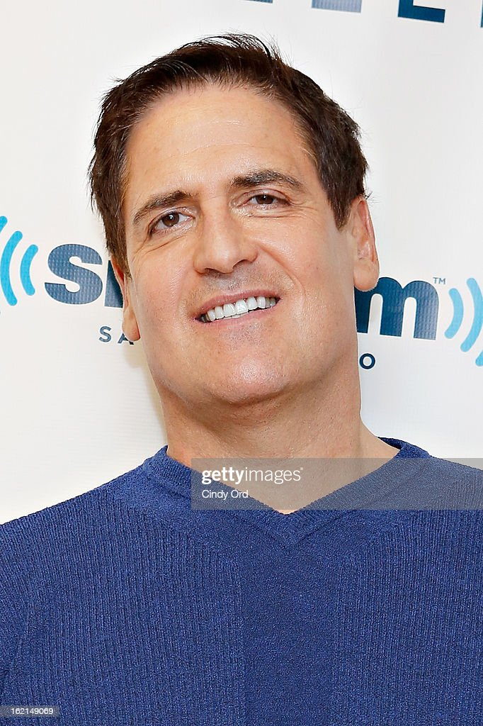 Dallas Mavericks owner/ TV personality <a gi-track='captionPersonalityLinkClicked' href=/galleries/search?phrase=Mark+Cuban&family=editorial&specificpeople=203295 ng-click='$event.stopPropagation()'>Mark Cuban</a> visits the SiriusXM Studios on February 19, 2013 in New York City.