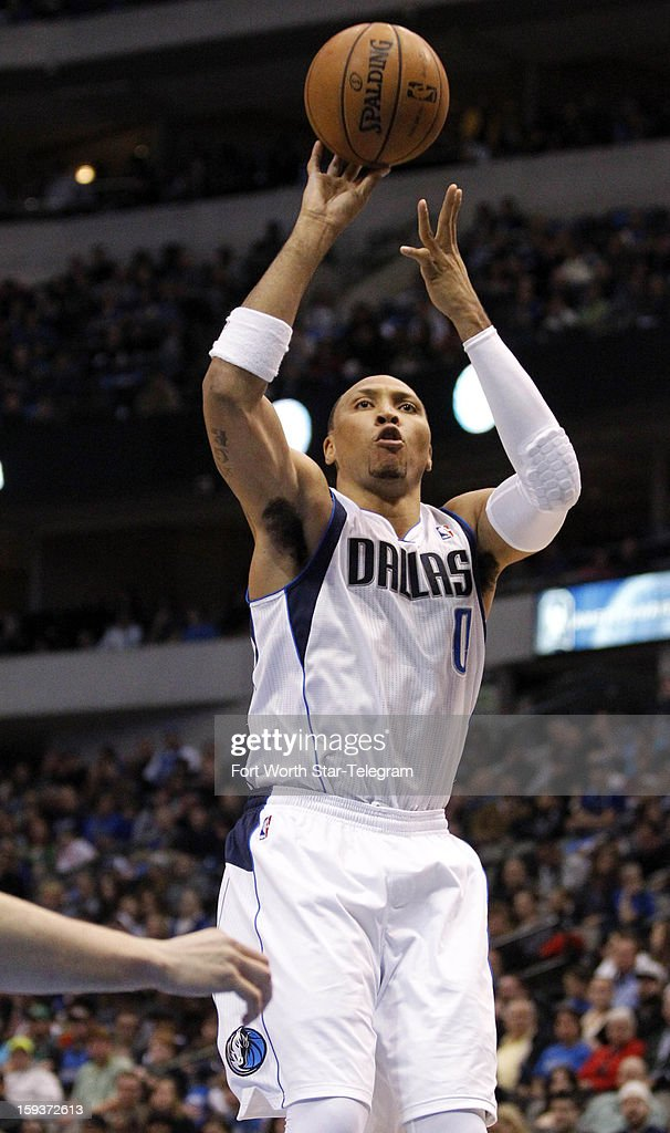Dallas Mavericks small forward Shawn Marion (0) takes a jump shot during the second quarter against the Memphis Grizzlies at the American Airlines Arena in Dallas, Texas, Saturday, January 12, 2013.