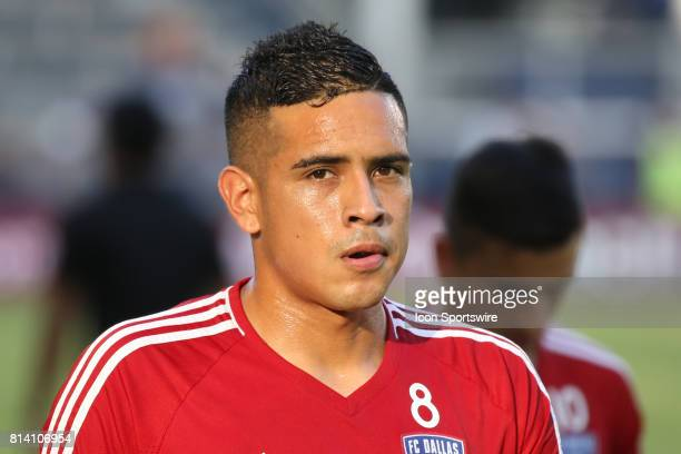 Dallas midfielder Victor Ulloa before the US Open Cup quarterfinal match between FC Dallas and Sporting Kansas City on July 11 2017 at Children's...