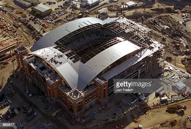 Dallas'' new arena American Airlines Center is shown under construction September 26 2000 The building is scheduled to open in fall 2001 as the new...