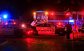 Dallas police work near the scene where eleven Dallas police officers were shot and five have now died on July 8 2016 in Dallas Texas According to...