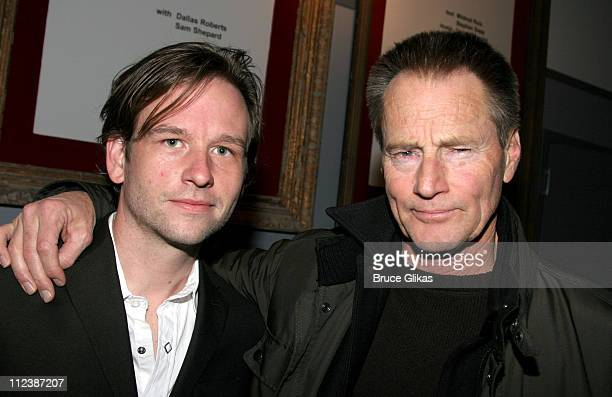 Dallas Roberts and Sam Shepard during Sam Shepard Returns To The Stage After 31 Years Absence In 'A Number' at NYTW Theater in New York City New York...