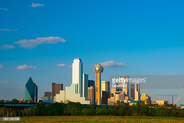 Dallas skyline at late afternoon