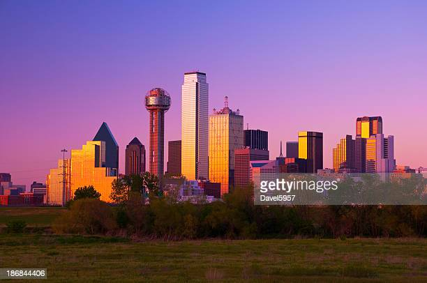 Dallas skyline at sunset / dusk