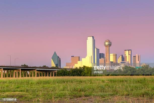 Dallas Skyline at Sunset