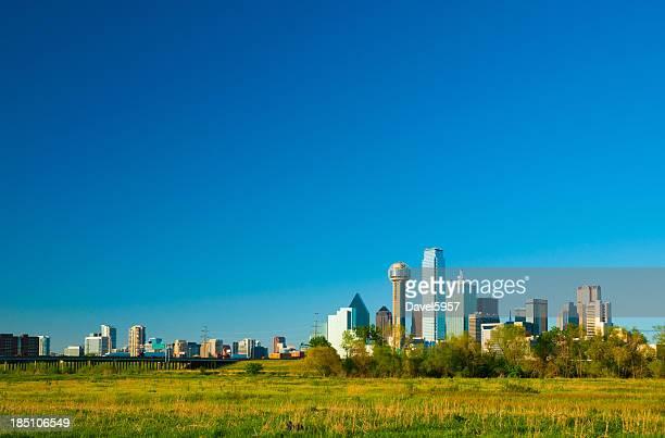 Dallas skyline wide angle