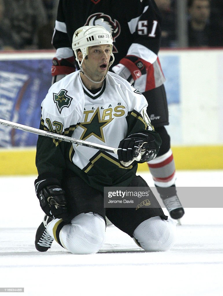 Dallas Stars' Bill Guerin reacts after being tripped during a game versus the Buffalo Sabres at the HSBC Arena in Buffalo NY December 14 2005 Buffalo...