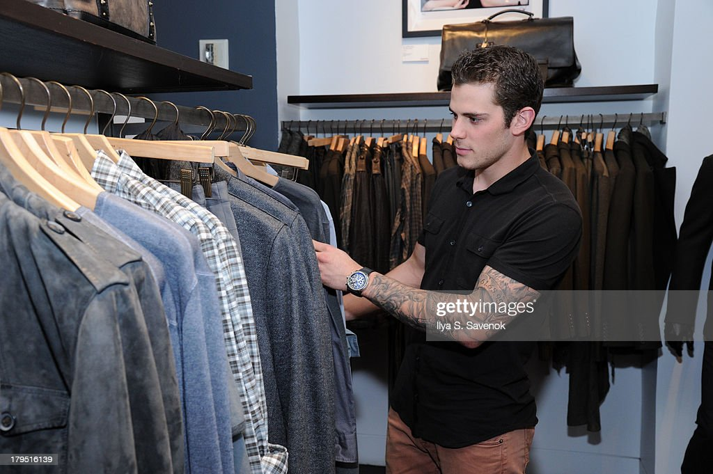 Dallas Stars forward <a gi-track='captionPersonalityLinkClicked' href=/galleries/search?phrase=Tyler+Seguin&family=editorial&specificpeople=6698848 ng-click='$event.stopPropagation()'>Tyler Seguin</a> attends John Varvatos event as part of 2013 NHL/NHLPA Player Media Tour on September 4, 2013 in New York City.