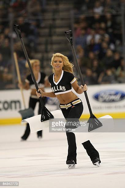 Dallas Stars Ice Girl during a game against the Los Angeles Kings at the American Airlines Center on January 17 2009 in Dallas Texas