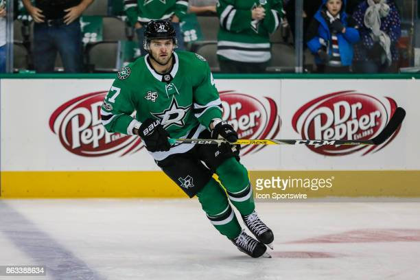 Dallas Stars right wing Alexander Radulov skates in warmups prior to the game against the Arizona Coyotes on October 17 2017 at the American Airlines...