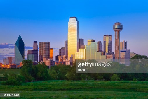Dallas Skyline late afternoon