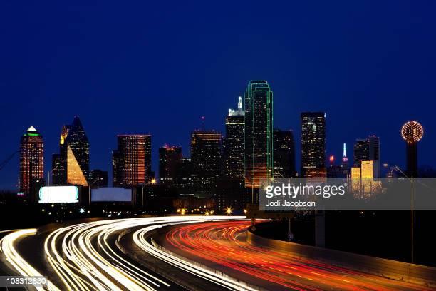 Dallas Texas skyline at dusk