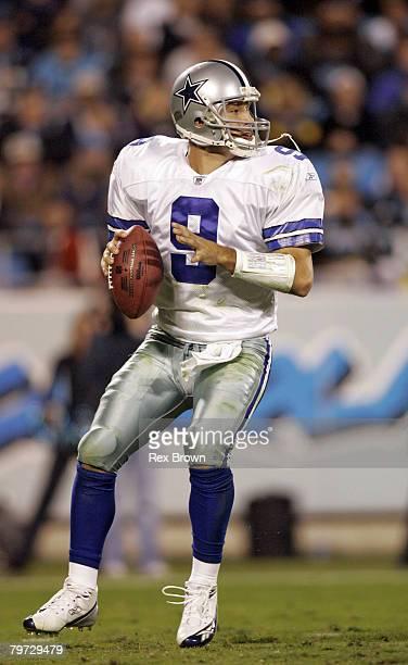 Dallas' Tony Romo in action against the Carolina Panthers Oct 29 at Bank of America Stadium in Charlotte North Carolina Dallas defeated Carolina 3514