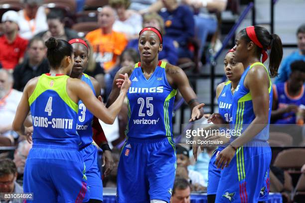 Dallas Wings forward Glory Johnson Dallas Wings guard Skylar DigginsSmith Dallas Wings guard Karima ChristmasKelly Dallas Wings guard Allisha Gray...