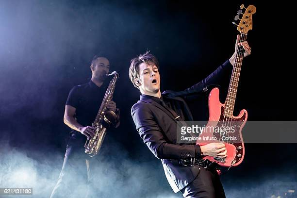 Dallon Weekes of American rock band Panic at the Disco performs on stage on November 4 2016 in Milan Italy