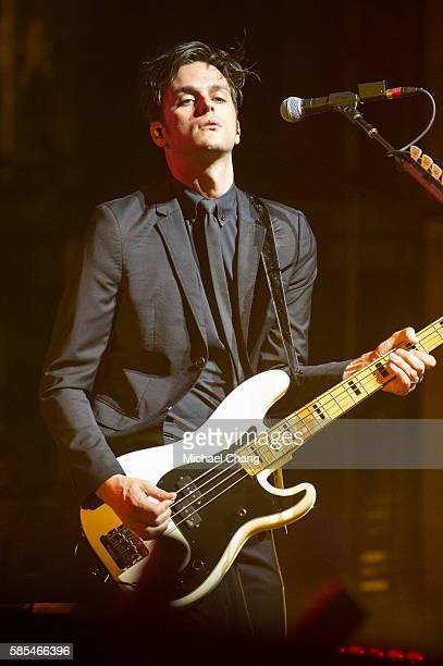 Dallon Weekes of Panic at the Disco performs at AkChin Pavilion on August 2 2016 in Phoenix Arizona