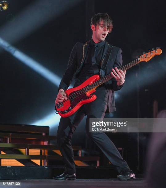 Dallon Weekes of Panic at the Disco performs at Madison Square Garden on March 2 2017 in New York City