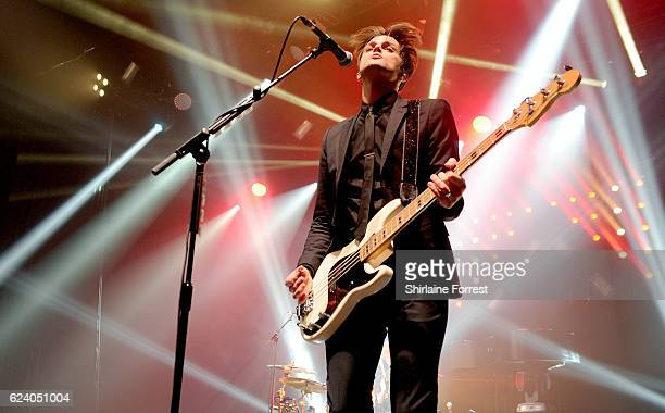 Dallon Weekes of Panic At The Disco performs at O2 Apollo Manchester on November 17 2016 in Manchester United Kingdom