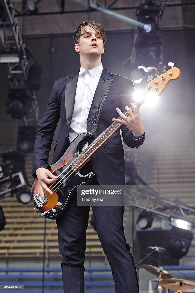 Dallon Weekes of Panic! At The Disco performs at the 2014 Bumbershoot Festival on August 30, 2014 in Seattle, Washington.