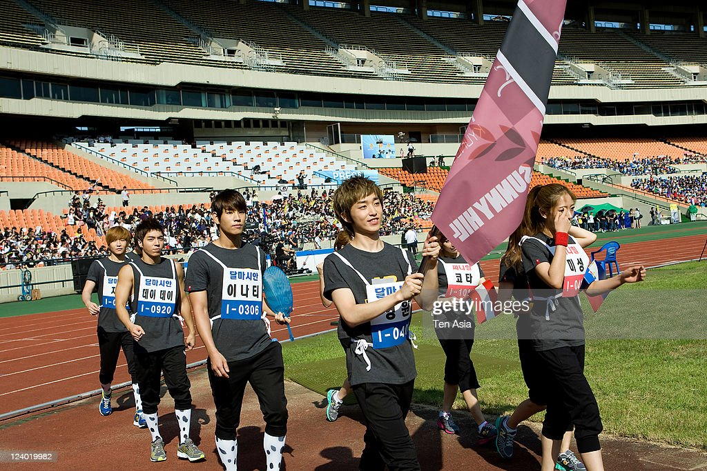 Dalmatian attend the 3rd Idol stars track and field championship at the Jamsil Stadium on August 27, 2011 in Seoul, South Korea.