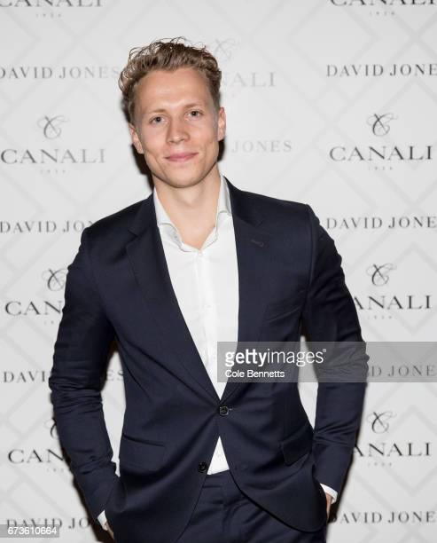 Dalton Graham arrives at the David Jones Canali Launch at Restaurant Hubert on April 27 2017 in Sydney Australia