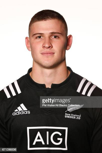 Dalton Papalii poses during the New Zealand U20 Headshots Session at Novotel Auckland Airport on April 22 2017 in Auckland New Zealand