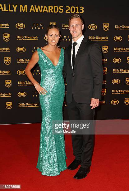 Daly CherryEvans and Vessa Rockliff arrive ahead of the 2013 Dally M Awards at Star City on October 1 2013 in Sydney Australia