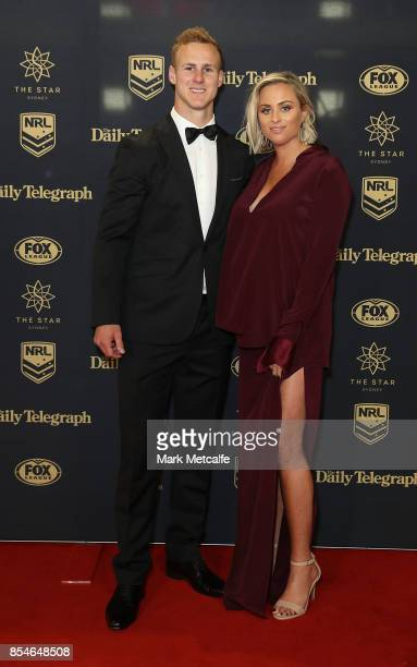 Daly CherryEvans and Vessa Rokliff arrive ahead of the 2017 Dally M Awards at The Star on September 27 2017 in Sydney Australia