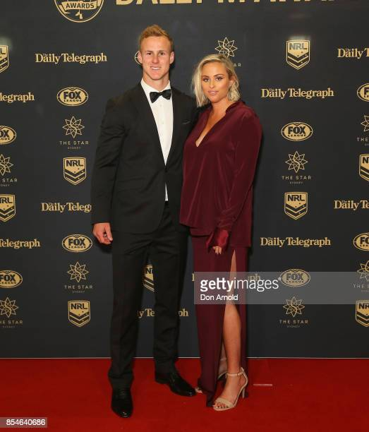 Daly CherryEvans and Vessa Rokliff arrive ahead of the Dally M Awards at The Star on September 27 2017 in Sydney Australia
