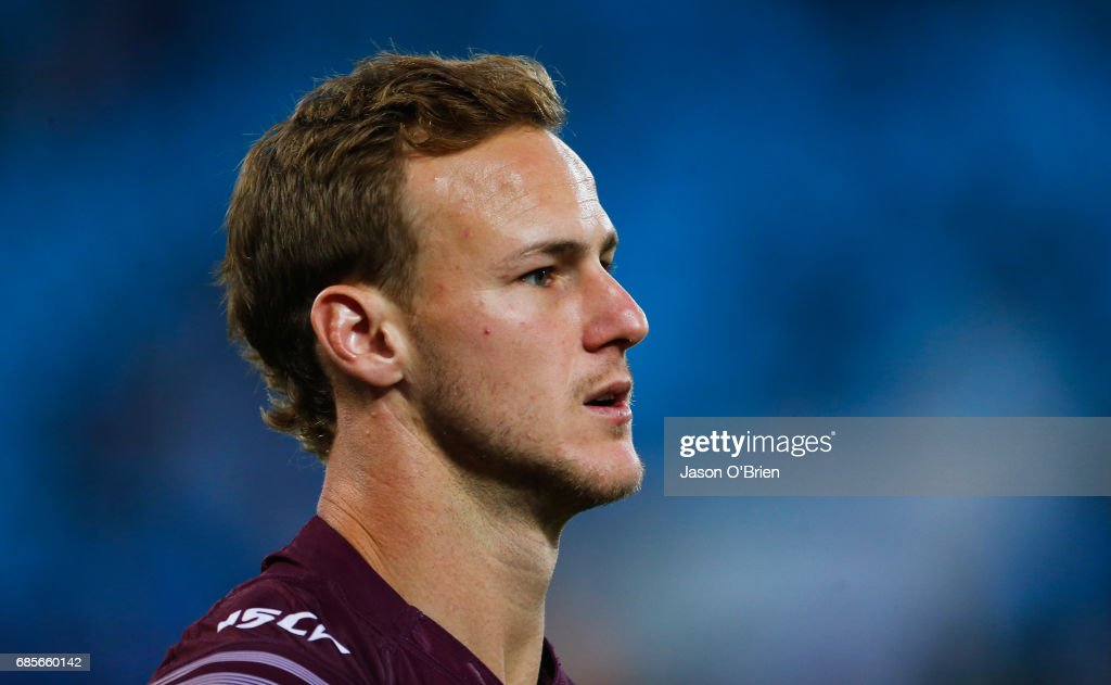 Daly Cherry-Evans of the Sea Eagles during the round 11 NRL match between the Gold Coast Titans and the Manly Sea Eagles at Cbus Super Stadium on May 20, 2017 in Gold Coast, Australia.