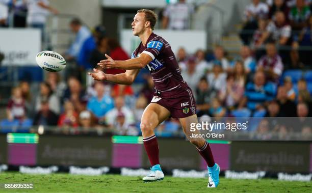 Daly CherryEvans of the Sea Eagles in action during the round 11 NRL match between the Gold Coast Titans and the Manly Sea Eagles at Cbus Super...