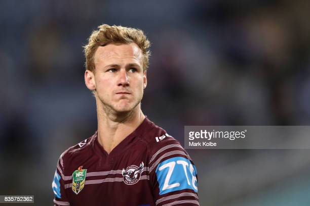Daly CherryEvans of the Sea Eagles looks dejected after defeat during the round 24 NRL match between the Canterbury Bulldogs and the Manly Sea Eagles...