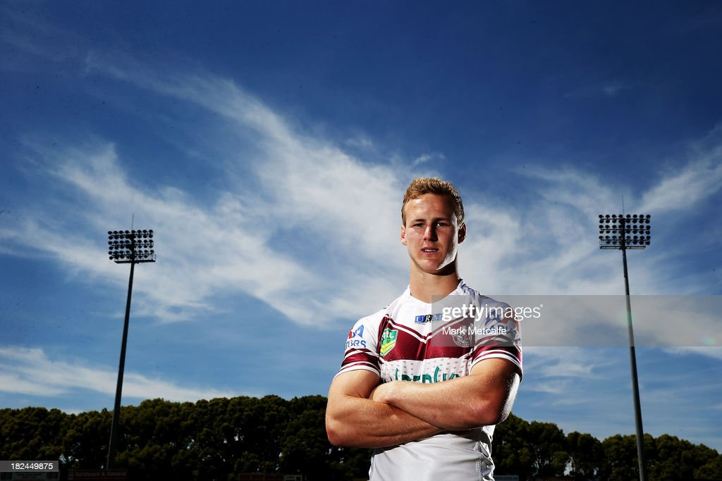 <a gi-track='captionPersonalityLinkClicked' href=/galleries/search?phrase=Daly+Cherry-Evans&family=editorial&specificpeople=7594603 ng-click='$event.stopPropagation()'>Daly Cherry-Evans</a> poses during the Manly Sea Eagles NRL Grand Final media day at Brookvale Oval on September 30, 2013 in Sydney, Australia.