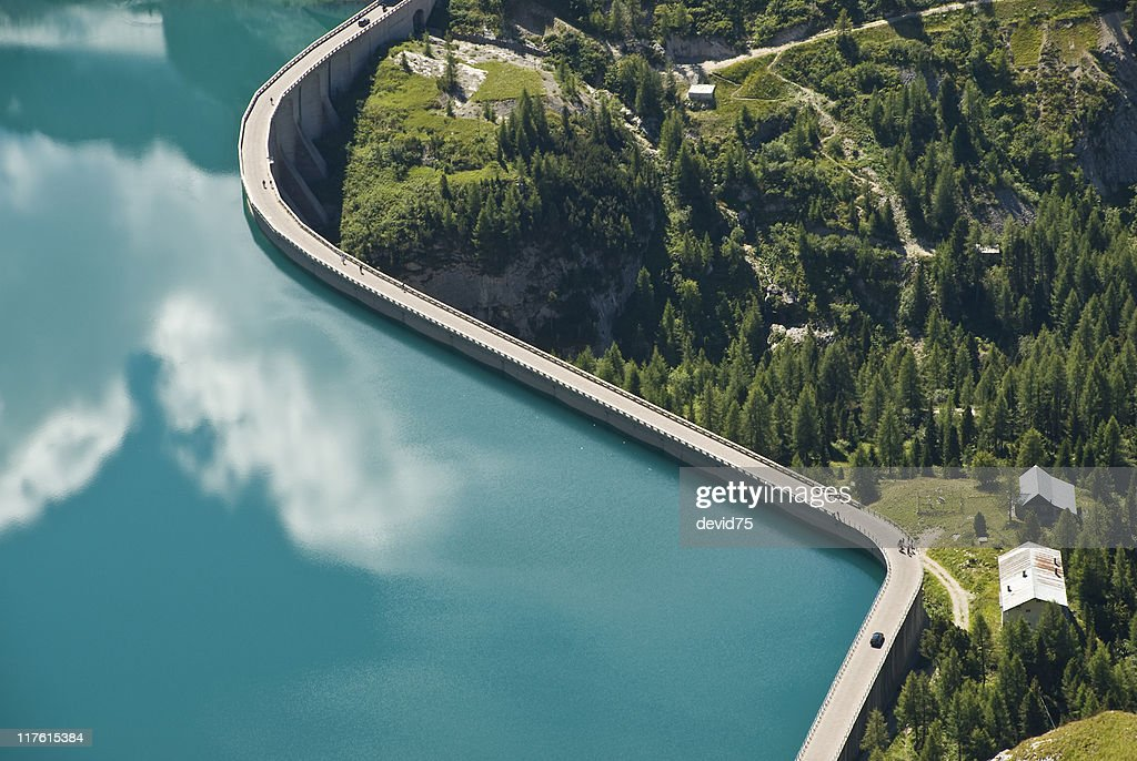Dam at end of Fassa Valley