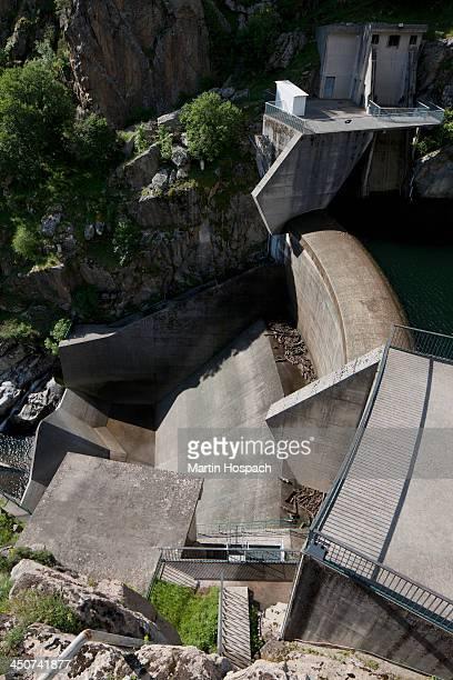 A dam in Calacuccia, Corsica, France