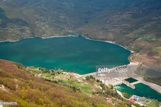 Dam Perucac on a Drina river. Hydroelectric power plant