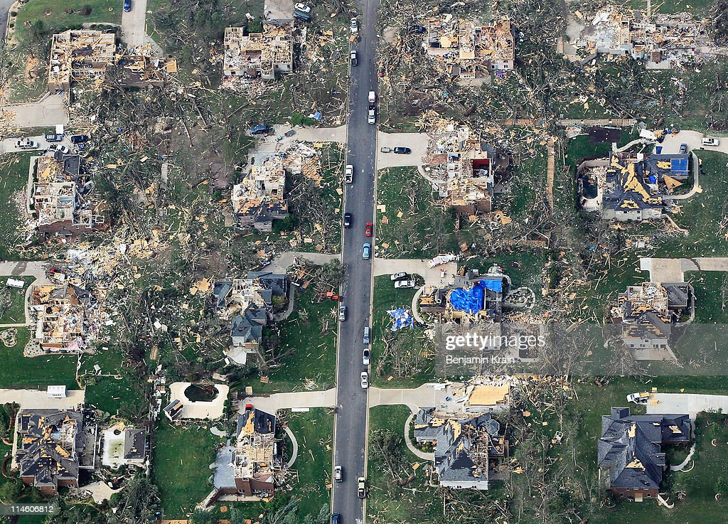 Damage is seen one day after a tornado tore through Joplin killing at least 122 people on May 24 2011 in Joplin Missouri The tornado that ripped...