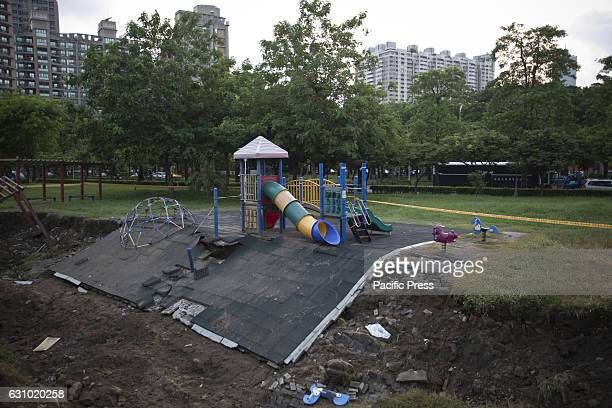 Damage land caused by the gas explosion near the children's playground A serious gas explosion caused by gas leaks occurred in the second largest...