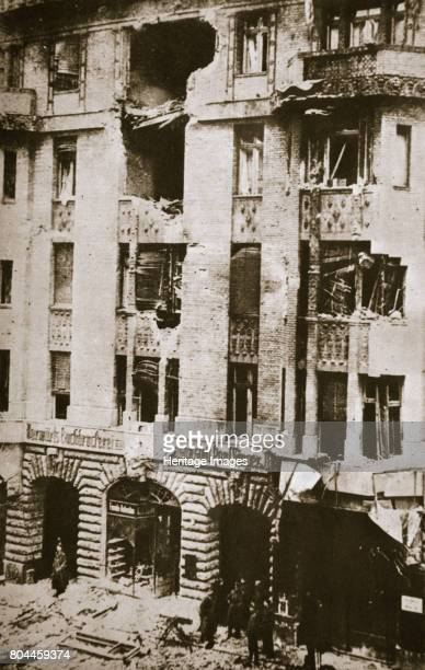 Damage to the offices of the socialist newspaper 'Vorwarts' Berlin Germany 1919 Scene during the Spartacist uprising of January 1919 The newspaper...