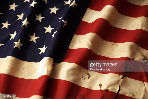 Damaged American Flag