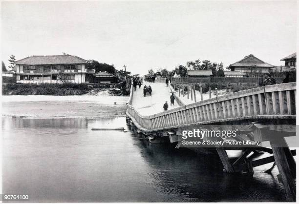 Damaged bridge in a suburb of Nagoya from 'The great earthquake in Japan 1891' by John Milne Milne a professor at the Imperial College of Engineering...