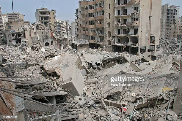 Damaged buildings in the city, Beirut, Lebanon