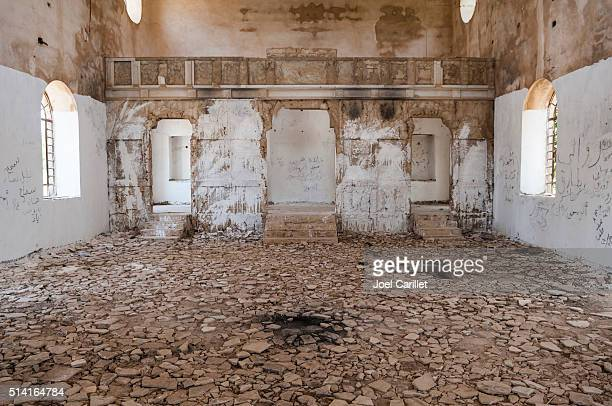 Damaged Christian church in Quneitra, Syria